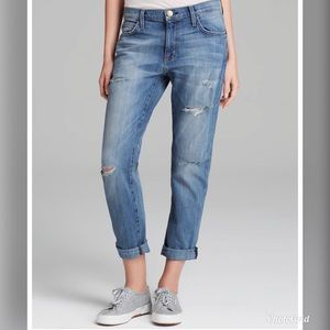 Current/Elliott The Fling Crop Boyfriend Jeans CE5
